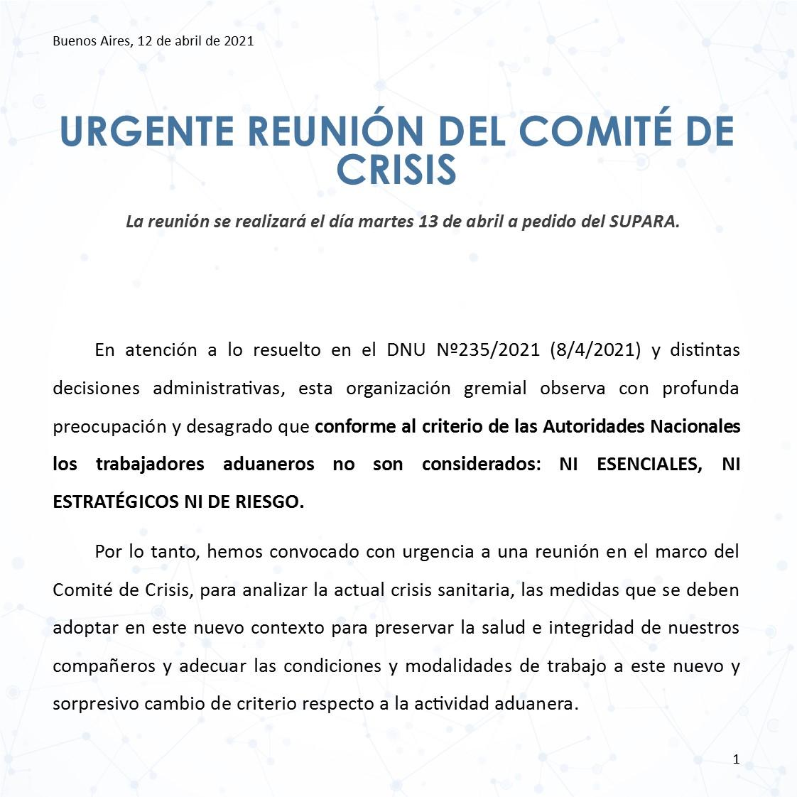 2021 04 12 URGENTE REUNIÓN DEL COMITE DE CRISIS 1